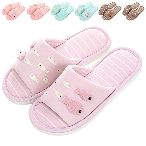 Purple Indoor Women's Foam Outdoor Cute for Shoes Slip Open Kids Memory Light Fish Toe ML House Slippers Slippers On Soft Slippers Home 1COxwI5qI