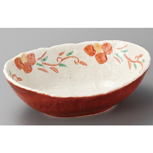 Multi Purpose bowl Pasta Breakfast cereal Bowl size [ 273 x 198 x 92mm ] Shuromaku arabesque flower ellipse large bowl Japanese dish plates traditional oriental asian