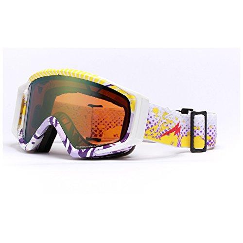 SE7VEN Lunettes D'hiver Coupe-vent,Double Couche Anti-buée Lunettes De Neige Escalade Bicyclette Motoneige De Ski-alpinisme Masques A