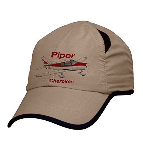 Pilot Airplane Hat (Piper Cherokee PA-28-140 Airplane Pilot Hat - Personalized with N#)