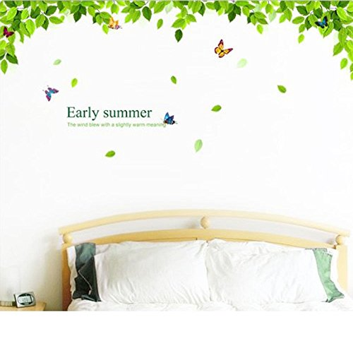 Wall Décor Stickers Removable Vinyl Wall Stickers Flying Butterflies Green Tree Home