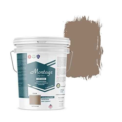 Montage Signature Interior/Exterior Eco-Friendly Paint, Old Walnut - Low Sheen, 5 Gallon