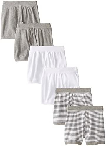 Burt's Bees Baby Baby-Boys Infant Set of 6 Solid Boxer Shorts