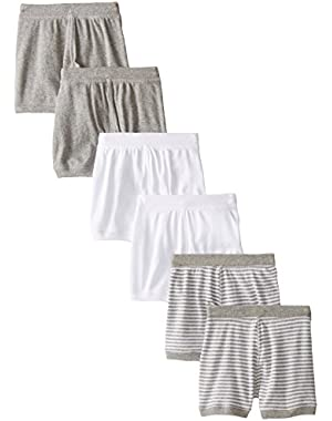 Baby-Boys Infant Set of 6 Solid Boxer Shorts