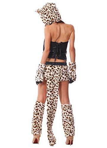 Sexiest Womens Costumes (Plaid&Plain Women's Sexy Leopard Costume Halloween Outfits Leopard FreeSize)
