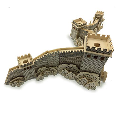 3D Wooden Puzzle Model, Laser Cutting, Restore Chinese Ancient Architecture, Great Wall Jigsaw Toy (25.4