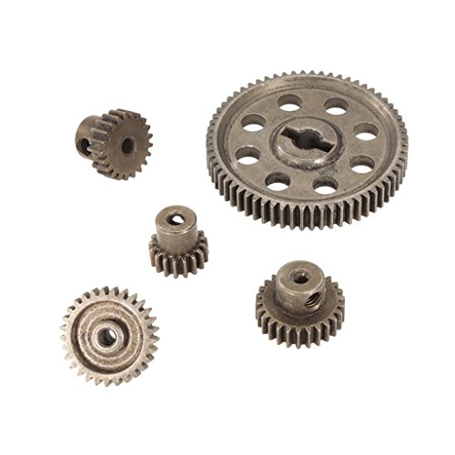 Baoblaze Metal Spur Diff Differential Main Gears Set for Redcat RC Monster Truck ()