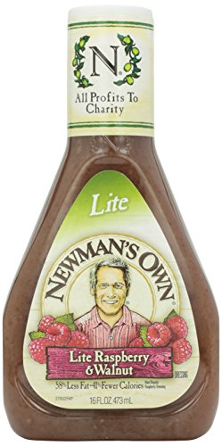 Newman's Own Salad Dressing, Light Raspberry & Walnut, 16 Fluid Ounce