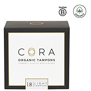 Cora Light Organic Tampons with Applicator