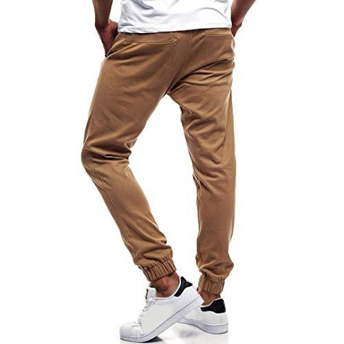 Pantalon Cordon Mode Automne Kaki Printemps Sport Loisirs Homme De Style Bouton Longue Hulday Survêtement Couleur Simple Pure Lâche SqdxCCgFw