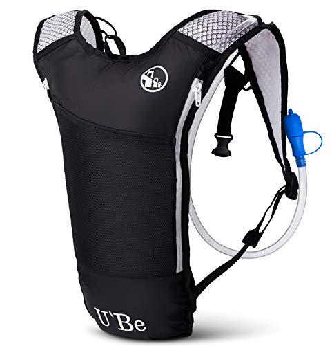 Liter Hydration Backpack - U`Be Hydration Pack Water Backpack - Kids Women Men Camelback - Hiking Biking Running Bag with 2L Bladder