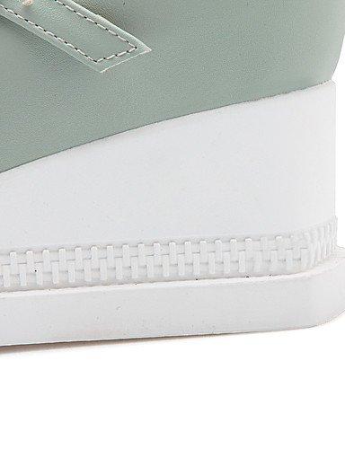 GGX/ Damen-High Heels-Büro / Lässig-PU-Keilabsatz-Wedges / Rundeschuh-Blau / Rosa / Weiß white-us7.5 / eu38 / uk5.5 / cn38
