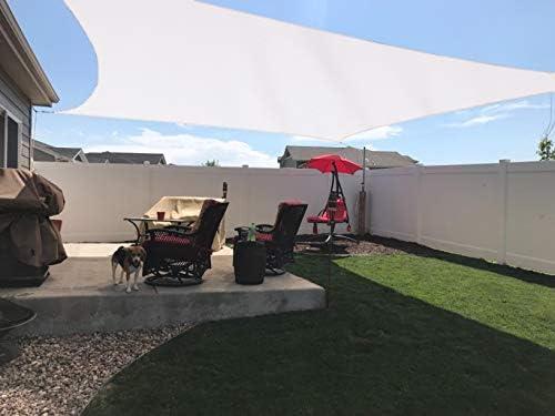 SUNNY GUARD Toldo Vela de Sombra Rectangular 3x4m Impermeable a Prueba de Viento protección UV para Patio, Exteriores, Jardín, Color Crema: Amazon.es: Jardín