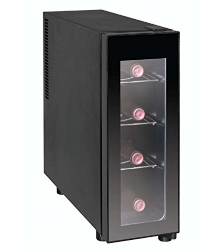 IGLOO FRW041 4-Bottle Wine Cooler, Black (Small Wine Refrigerator compare prices)