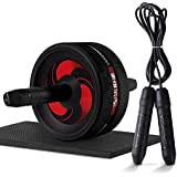 HAI+Ab Roller Wheel for Abs Workout, AB Wheel Roller with Knee Mat and Jump Rope, Ab Roller Wheel Exercise Equipment, Ab Wheel Exercise Equipment,Ab Wheel Roller for Home Gym,Ab Machine for Ab Workout