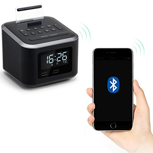 Buy cube clock with usb charger ports