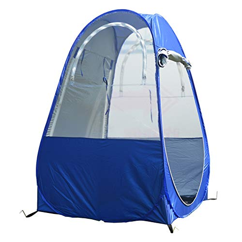 W&Z Pop Up Tent, Portable Pop up Tent with Two Windows and Carrying Bag for Camping Angling Fishing, Blue