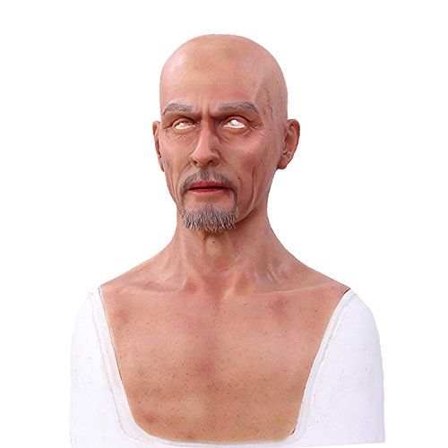 Male mask Halloween Costume Party Latex Head Mask face Charles silicone realistic full head masquerade for crossdresser cosplayer(NO.2)
