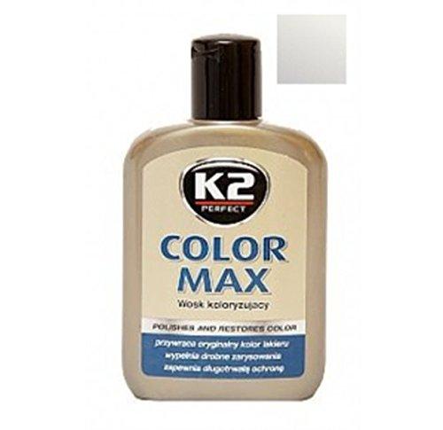 K2 Color Max farbigen Wachs mit Carnauba, stä rkt Auto Glanz, silber 200 ml