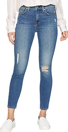 7 For All Mankind Women's High Waist Ankle Skinny Jean, Gilded Dawn, 25 (All 7 Skinny Mankind Jeans)