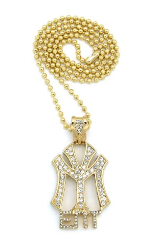 """New Iced Out YOUNG MONEY ENT Pendant &3mm/27"""" Ball Chain Hip Hop Necklace BXZ47G"""