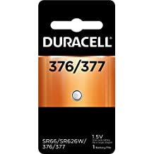 Duracell – 376/377 1.5V Silver Oxide Button Battery – long-lasting battery – 1 count