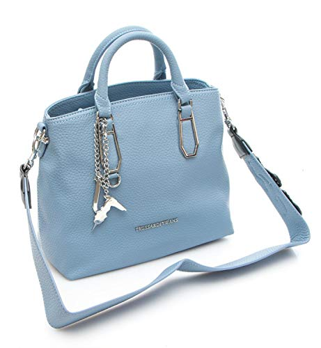 Ecoleather Shopping Carrie Borsa Donna Jeans Bag Smooth Trussardi Lightblue wHIqBT7W