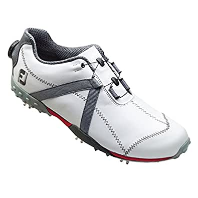 FootJoy Men's M Project BOA Spiked Golf Shoes - White/Charcoal (FJ#55255)