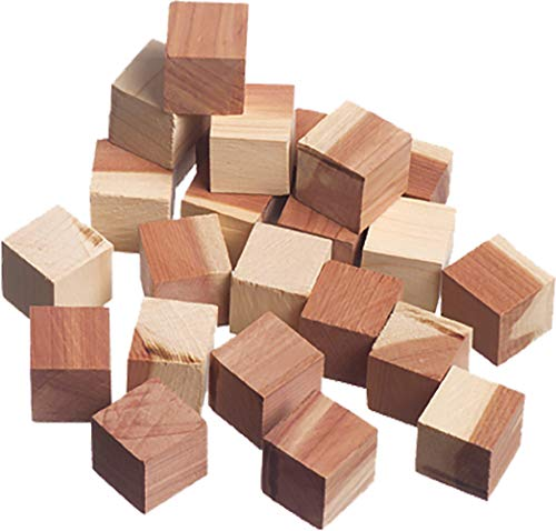 The Great American Hanger Company Red Cedar Cubes 24 Pack - Absorb Moisture and Eliminate Odors in Your Closet While repelling Insects, Air Freshener