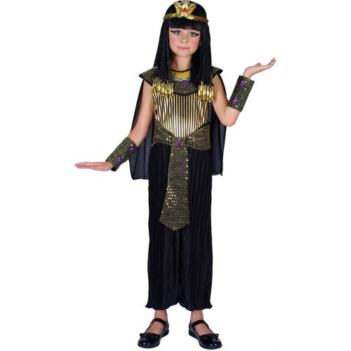 [Girls Medium Queen Cleopatra Costume for Egyptian Ancient Egypt Fancy Dress] (Ancient Egypt Costumes)