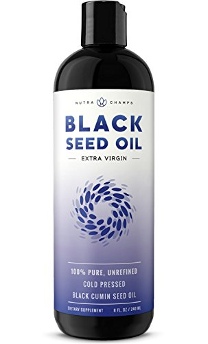 Organic Black Seed Oil – Premium Nigella Sativa Black Cumin Supplement with Thymoquinone & Omega 3 6 9-100% Pure, Extra Virgin, Unrefined, Cold Pressed, Unfiltered, Vegan 8oz