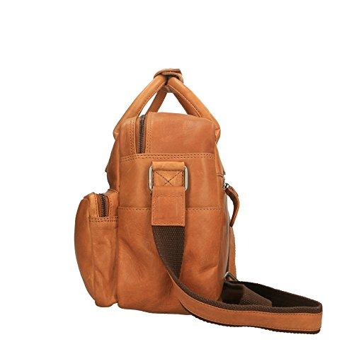 Chicca Borse Luxury Travel Bag Borsa da Viaggio Unisex a Spalla con Manico in Vera Pelle - 37x27x16 Cm