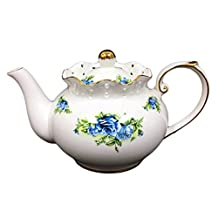 Hampstead Collection Porcelain Blue Rose Teapot 1000mL (8 Cups)