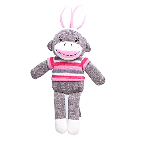 Handmade Stuffed Animal Sock Monkey Plush Toy Doll Collection 12 Inches Gray By HollyHOME