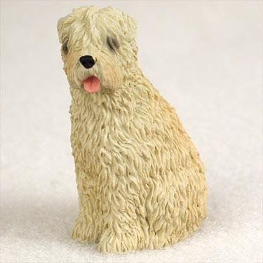 (Soft Coated Wheaten Miniature Dog Figurine)