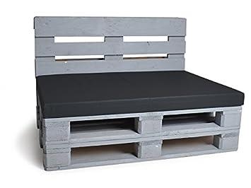 Matratzenkissen 80x120  Palettenkissen Matratzenkissen 120 x 80 cm - schwarz: Amazon.de ...