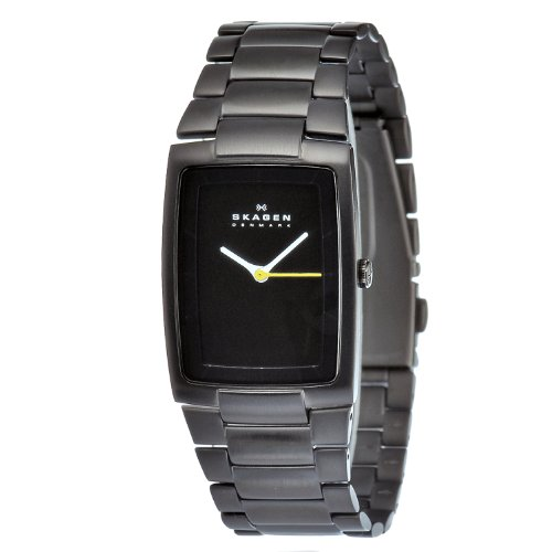 Skagen Men's H02LBXB1 Carbon Coated Stainless Steel Black Dial Watch