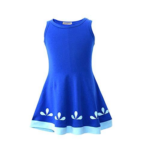 Trolls Poppy Dress Blue Troll Wig Set for Christmas Party Trolls Cosplay Costume (Blue, -