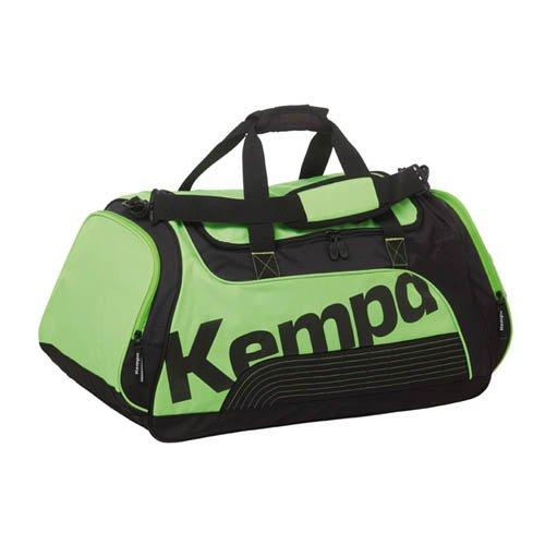 Kempa Sporttasche Tasche Sportline fluo grün/schwarz Größe L Maße 72 x 30 x 41cm, 90 ltr. inklusive Ballnetz für verharzte Bälle