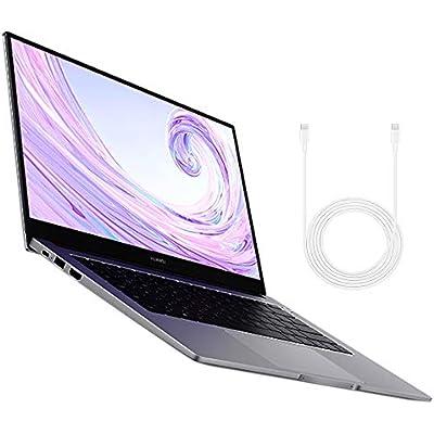 HUAWEI MateBook 2020 Inch Laptop with FullView 1080P FHD Ultrabook  AMD Ryzen 3500U  RAM  512 SSD  Windows Home  Multi-screen Collaboration  Fingerprint Reader   Space Grey
