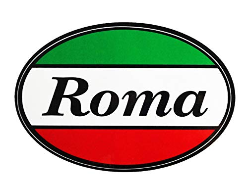 - Italian Roma Italy Flag Car Bumper Sticker Decal Oval - Italy Collection of Italian Pride Products at PSILoveItaly