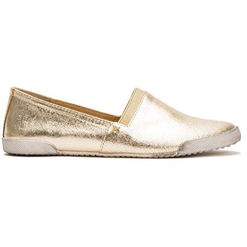 FRYE Women's Melanie Slip On Fashion Sneaker, Gold/Metallic Leather, 7 M US by FRYE