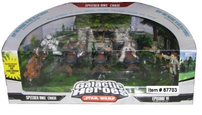 Star Wars Galactic Heroes Mini Figure Speeder Bike Chase Multi-Pack