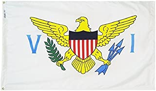 product image for Annin Flagmakers Model 146860 Territory: US Virgin Islands Flag 3x5 ft. Nylon SolarGuard Nyl-Glo 100% Made in USA to Official Design Specifications.
