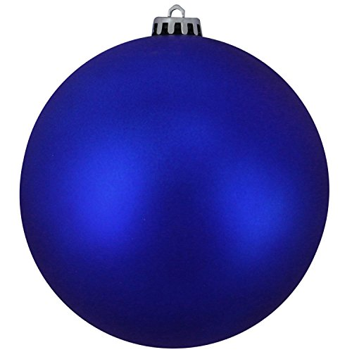 Northlight 31752942 Matte Lavish Blue UV Resistant Commercial Shatterproof Christmas Ball Ornament, 6