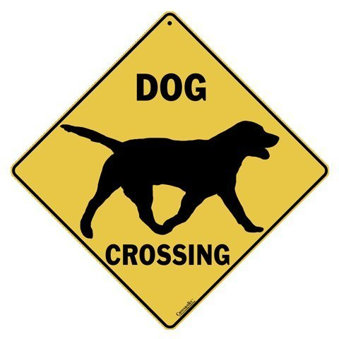 CROSSWALKS Dog Silhouette Crossing 12