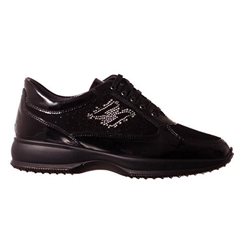in Igi amp;co made 8757 Italy Scarpa pelle NERO sneakers donna t8waxPSw