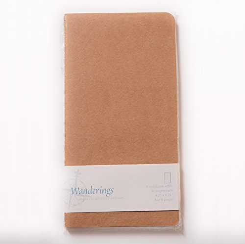 Paper Refill Set (Wanderings Traveler's Notebook Refill Inserts - Blank Paper - Set of)