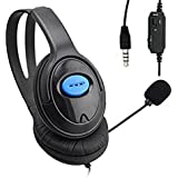 TTnight Wired Unilateral Headphone Gaming Headsets Headphones Adjustable Online Live Game Gaming Chat Headset with Mic for PS4 Sony PlayStation 4 /PC