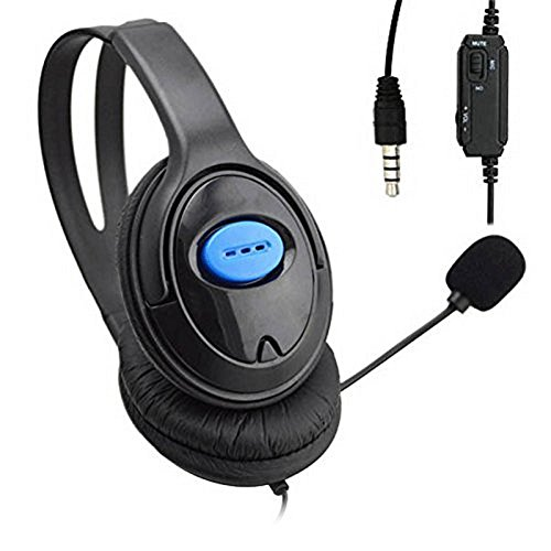 41WYQf3vvZL - Gaming Headsets,TTnight Wired Unilateral Headphone Gaming Headsets Headphones Adjustable Online Live Game Gaming Chat Headset with Mic for PS4 PlayStation 4/PC